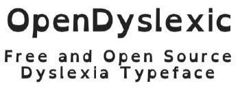Free OpenSource Dyslexia Font