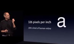 Steve Jobs introducing the retina iphone