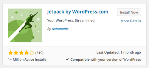 Jetpack WordPress Plugin Installation