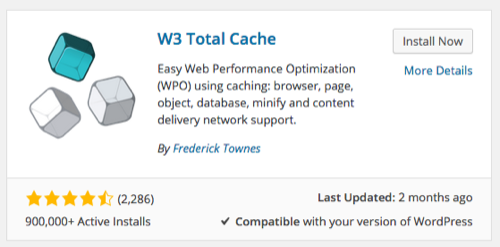W3 Total Cache Plugin Installation