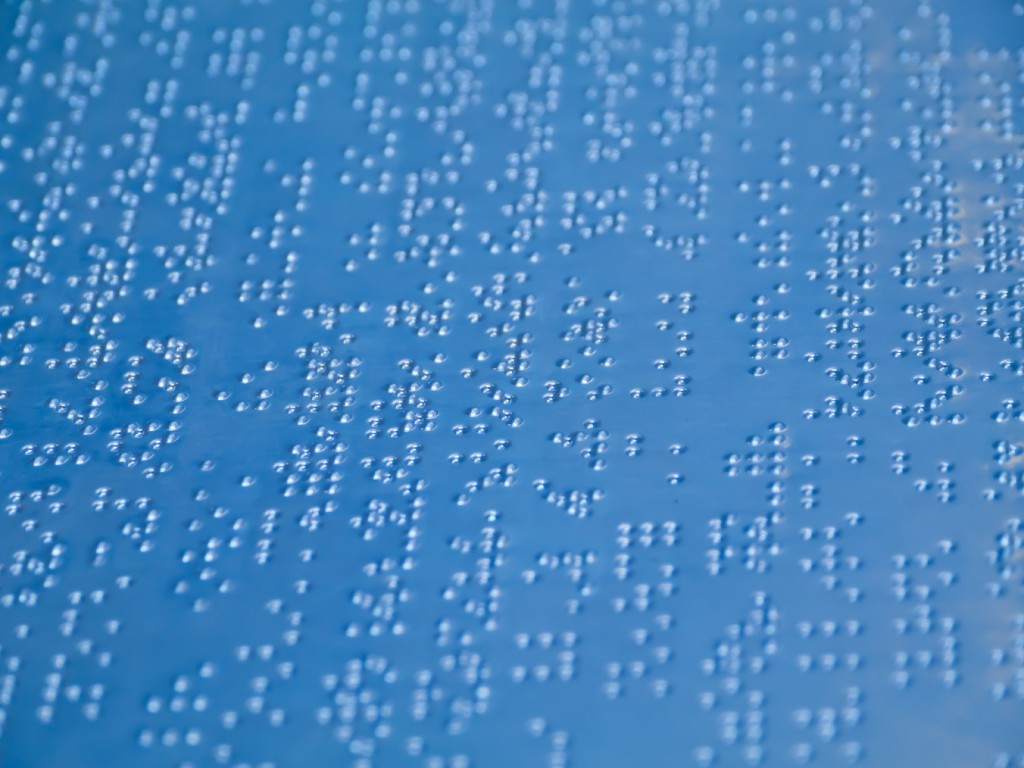 Stock Image of Braille Code