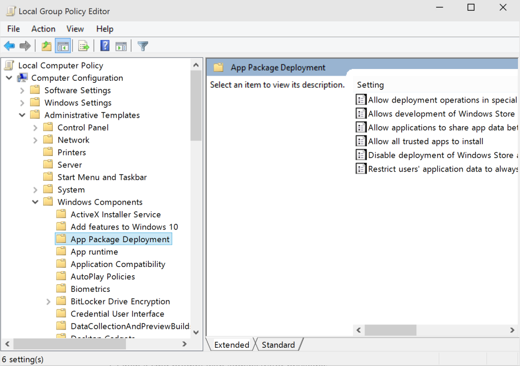 Finding Group Policy Settings