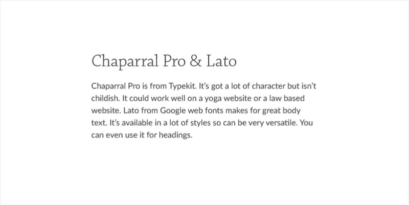 CHAPARRAL PRO AND LATO