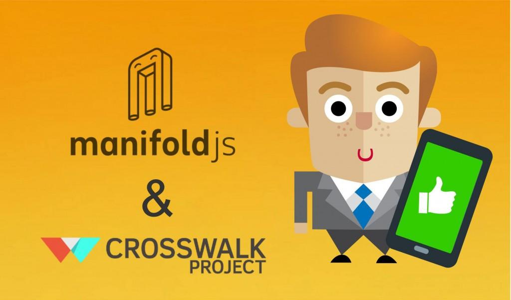 The manifoldJS and Crosswalk logos