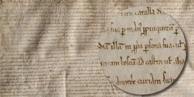 The original Magna Carta document