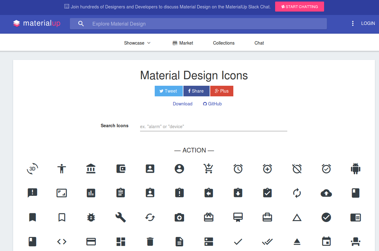 More Material Design Icons