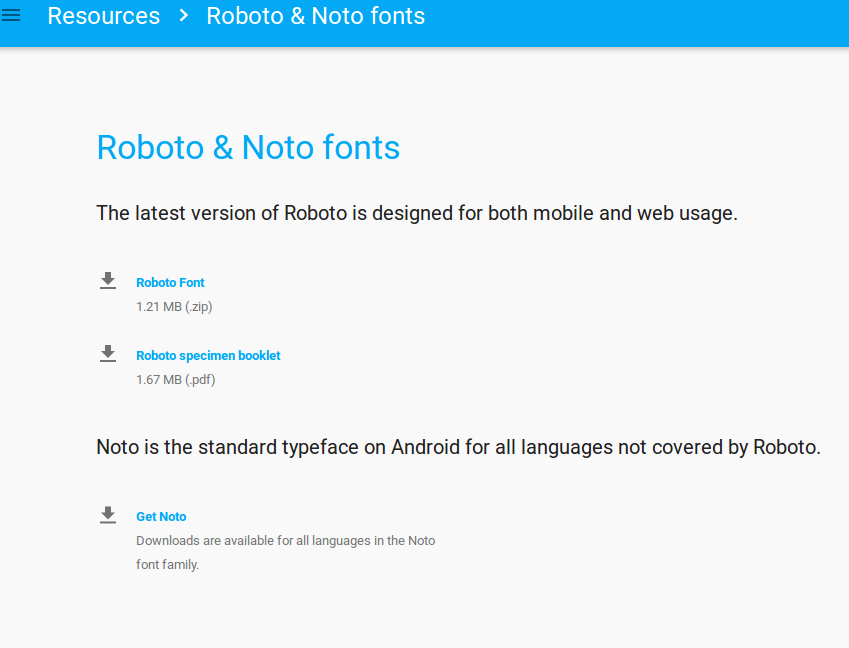 Roboto & Noto Fonts