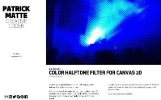 Patrick Matte's Halftone Filter