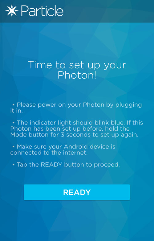 Preparing Your Photon App Screen