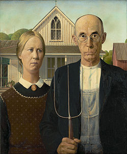 American Gothic by Grant Wood (1950)