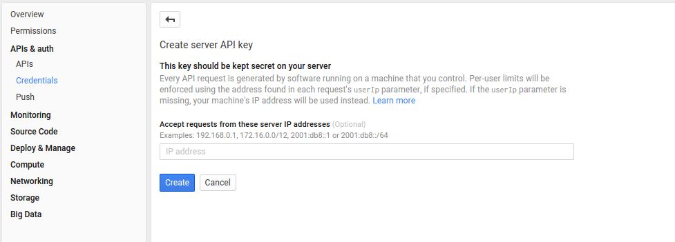 server api key