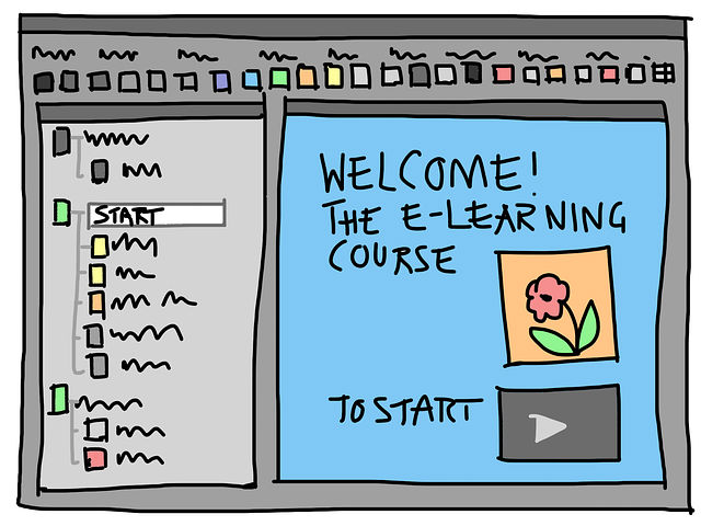 Elearning app sketch