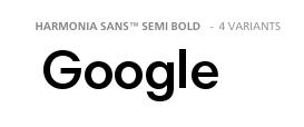 'Google' in Harmonia Sans