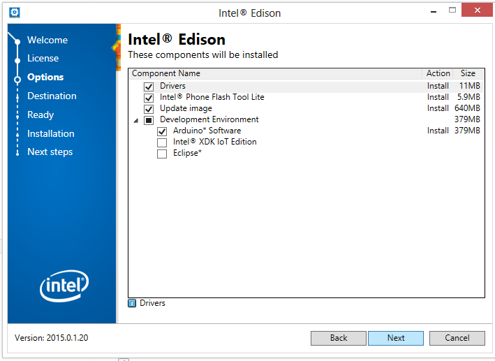 Intel Edison Board Installer