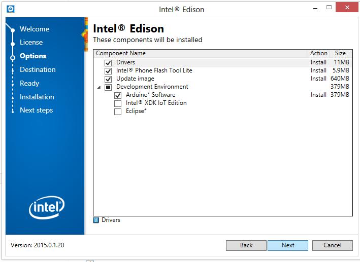 Intel Edison Board Installer