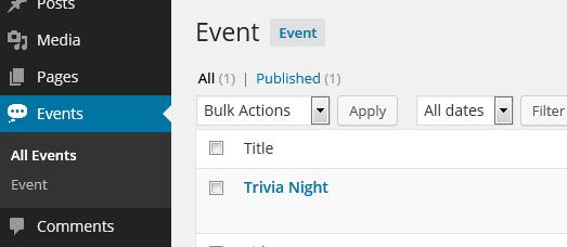 object orientated development admin menu
