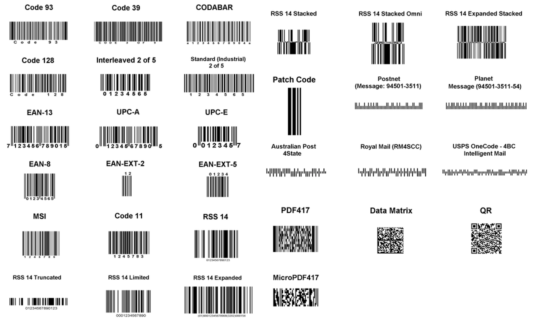 Common Barcodes