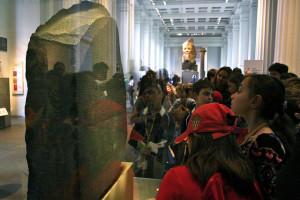 The Rosetta Stone in context. Photo: insunlight