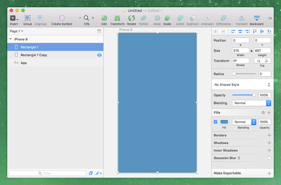 Setting Up the Artboard in Sketch