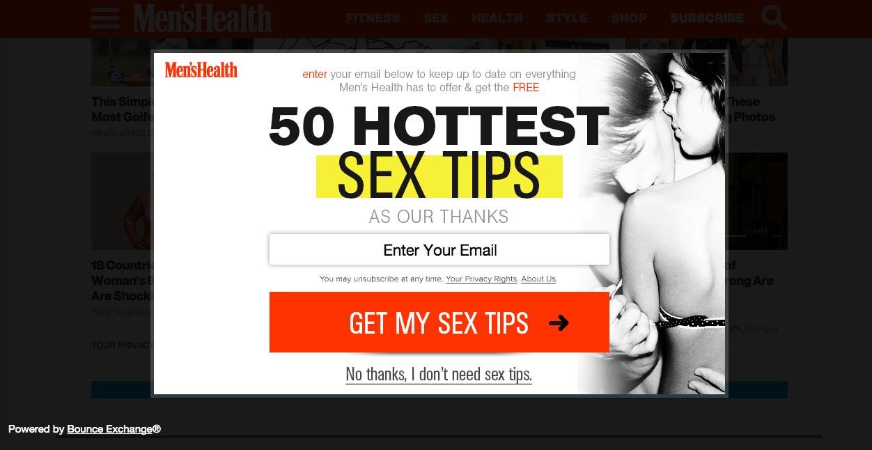 Sex popups