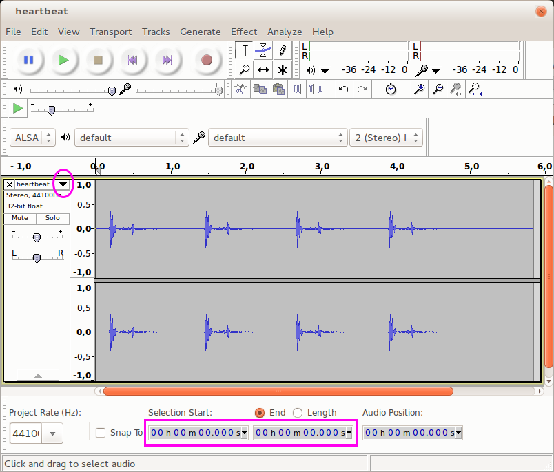 Audacity Interface