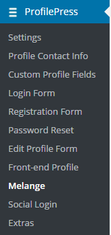 ProfilePress Menu