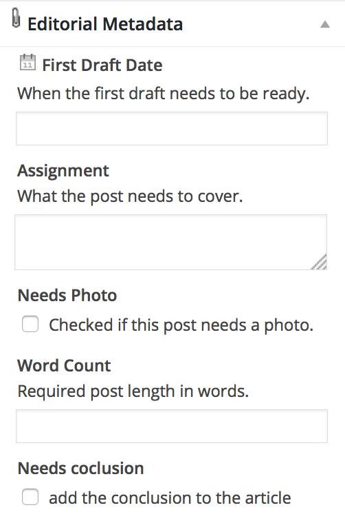 editorial metadata