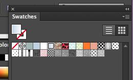 Halftone swatches