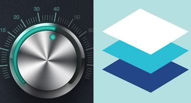 Glossy rendered UI versus flat design