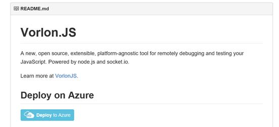 readme file deploy on Azure