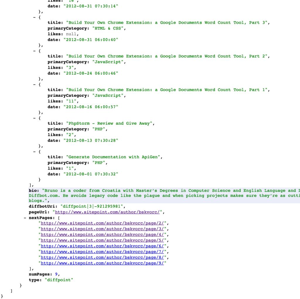 Diffpoint custom API result