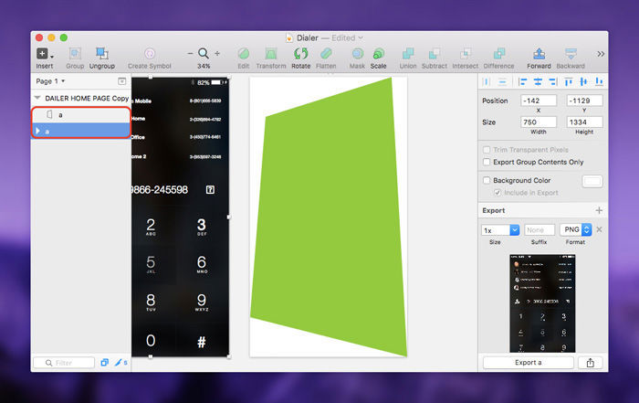 Connecting the Screen to the Shape