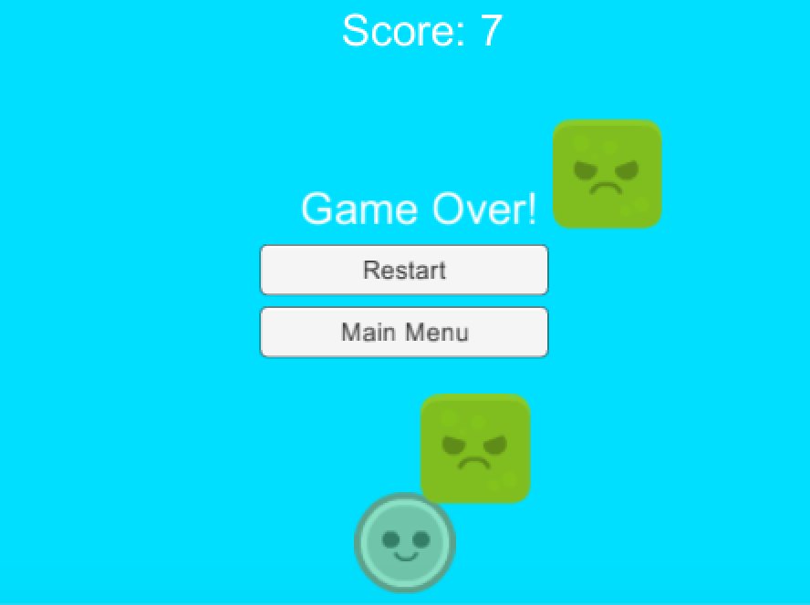 Adding Pause, Main Menu and Game over Screens in Unity — SitePoint