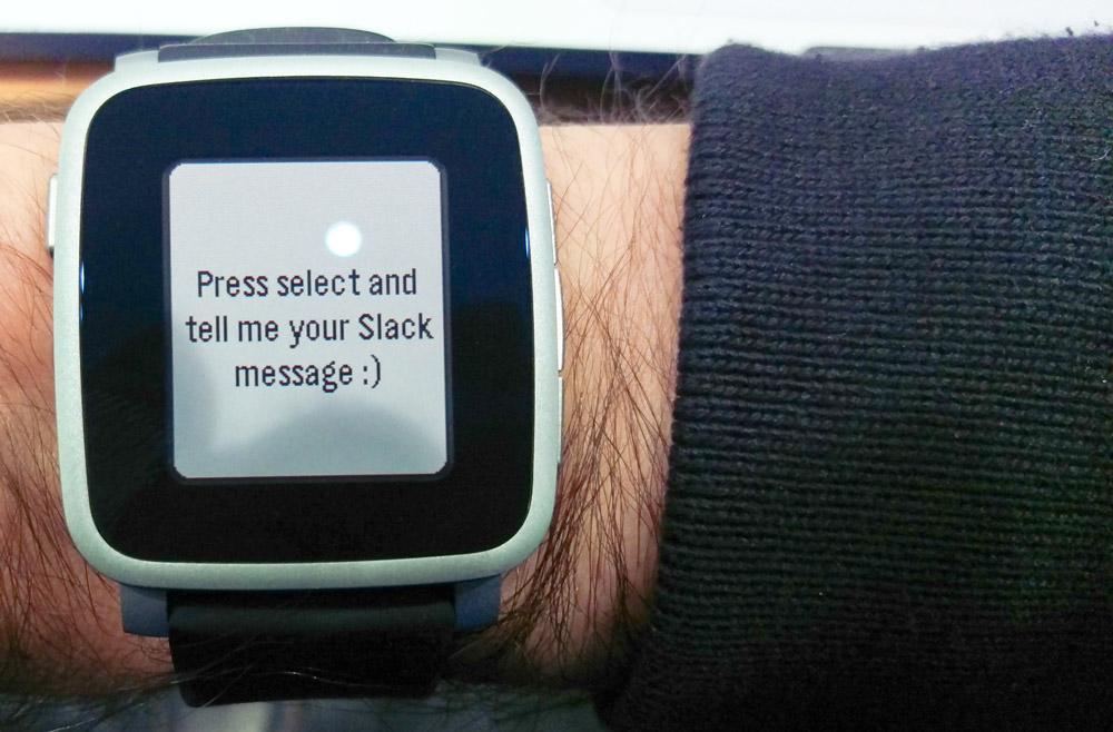 The Pebble Slack App