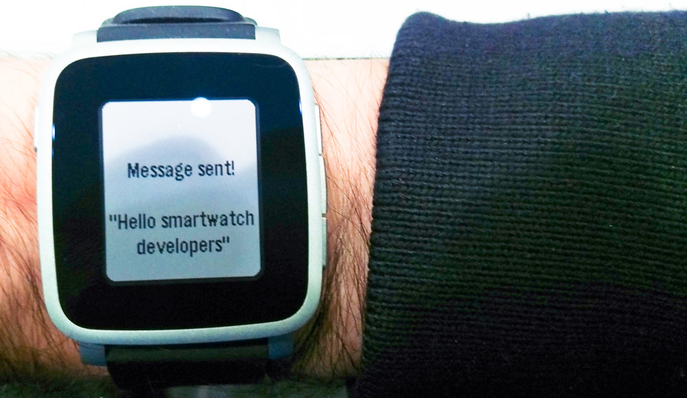 Pebble Dictation Message Sent