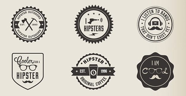 6 Hipster buttons