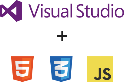 Visual Studio plus HTML5, CSS3 and Javascript