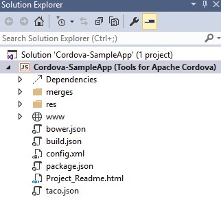 Apache Cordova sample app
