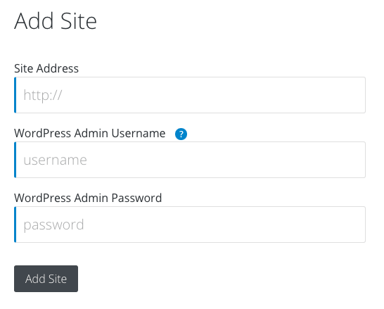 iThemes Sync Add Site Details