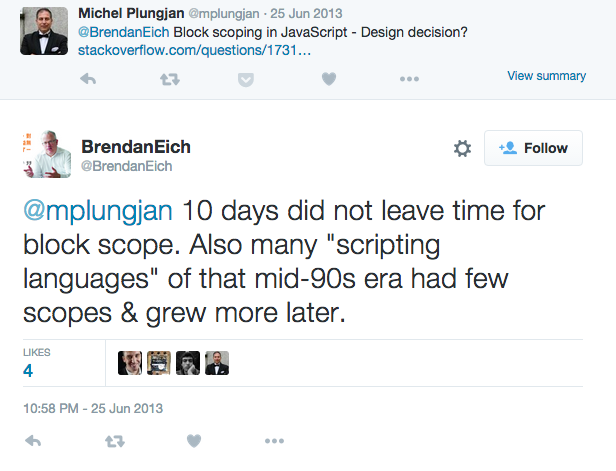 Brendan Eich series of tweets