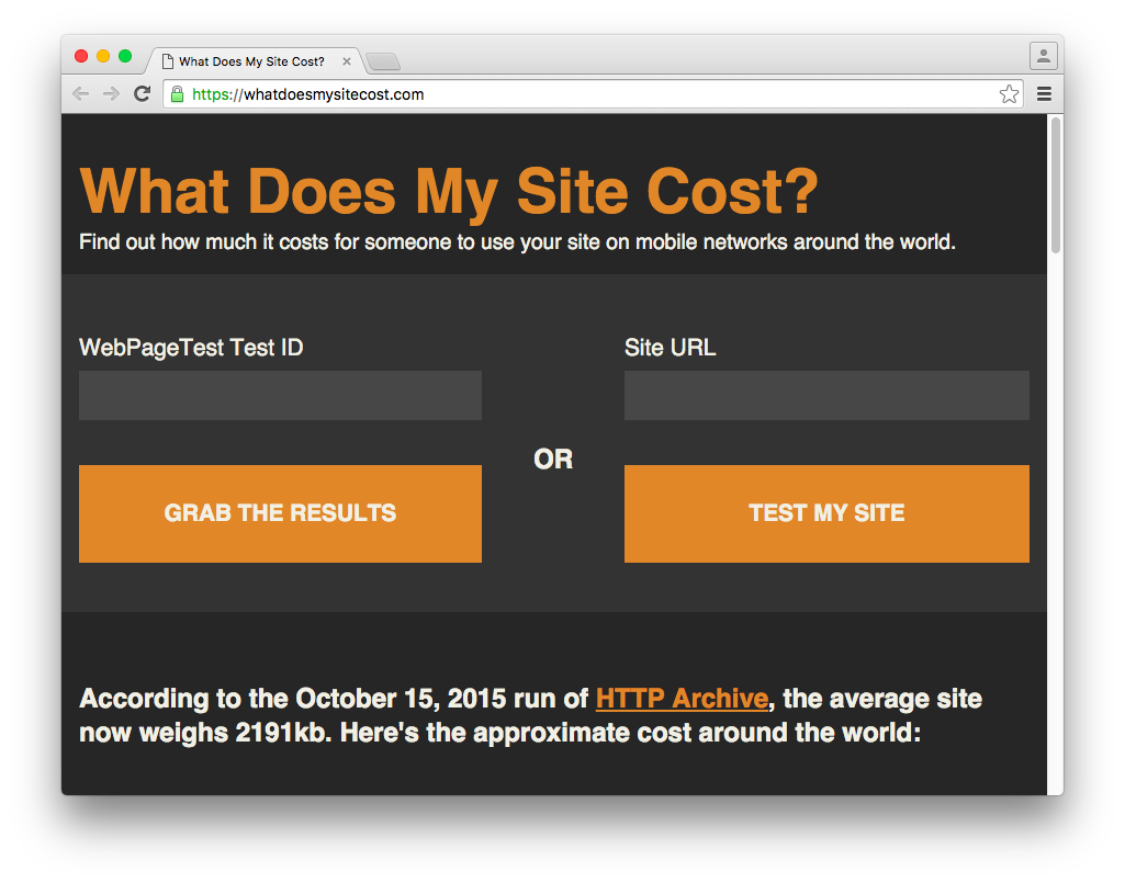 What Does My Site Cost?
