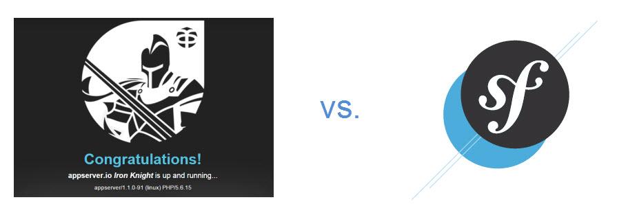 Intro image, Appserver logo versus Symfony logo