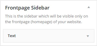 Adding a Frontpage Sidebar