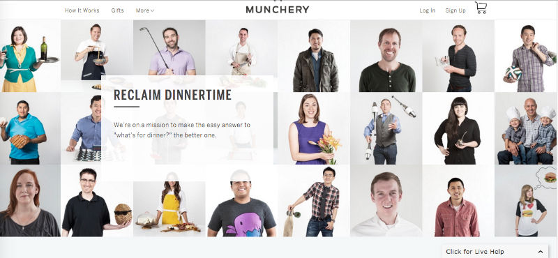 "Munchery's ""About"" page."