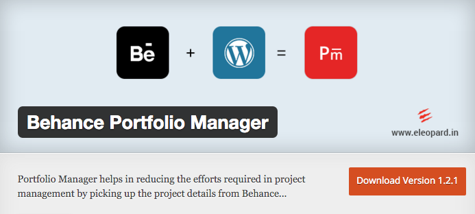 Behance Portfolio Manager by eleopard