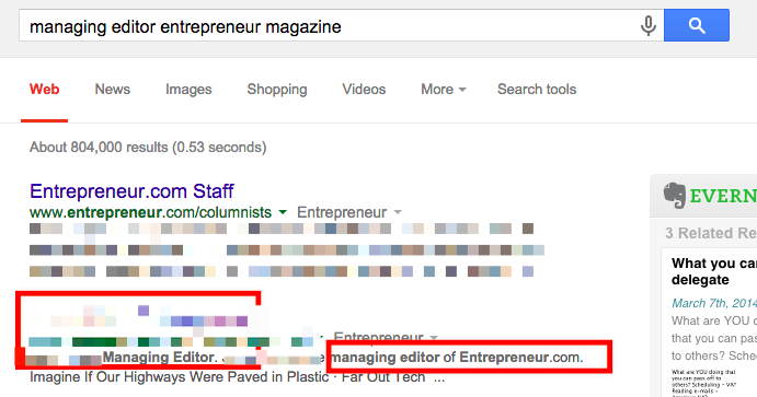 Find publication editors/writers (Google)