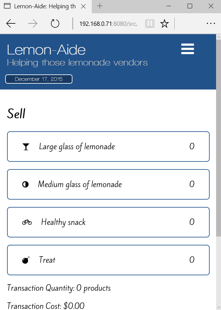 Lemon-Aide application