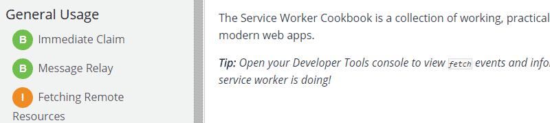 ServiceWorker Cookbook