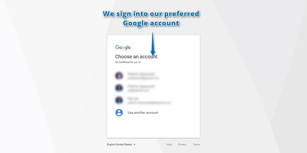 Signing in with your Google account