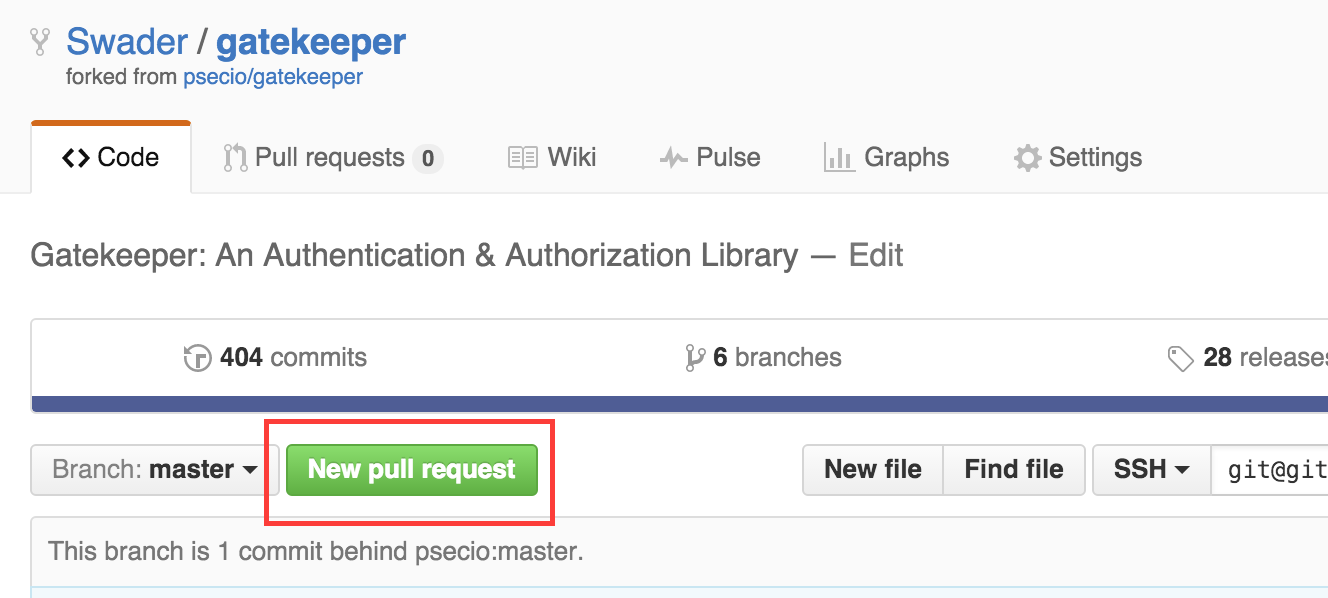 New Pull Request Button